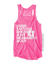 Guns Tattoos Shoes & My Husband's ACUs Top