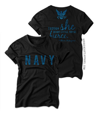 Though She Be Little Shirt - Navy