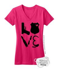 LEO Block Love Weapons Shirt