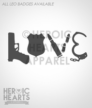 LEO Love Weapons Decal