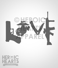 USMC Love Weapons Decal