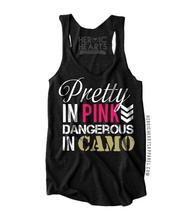 Pretty In Pink, Dangerous In Camo Shirt