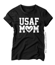 USAF Mom Heart Shirt
