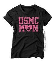 USMC Mom Heart Shirt