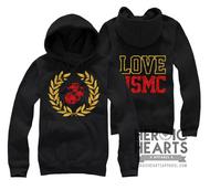 LOVE USMC Crest Emblem Top