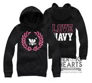 LOVE Navy Crest Emblem Top