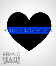 Thin Blue Line Heart Decal