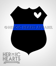 LEO Shield Heart TBL Decal