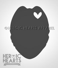 Oval Badge Heart Decal