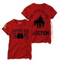 Custom Support Our Troops Red Friday Shirt