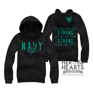 You Never Know How Strong Navy Hoodie