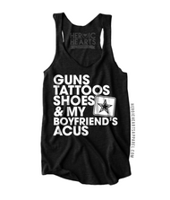 Guns Tattoos Shoes & My Boyfriend's ACUs