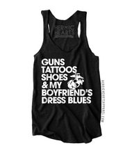 Guns Tattoos Shoes & My Boyfriend's Dress Blues
