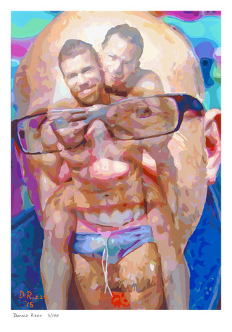Shop for Gay Male Art Summer Past in Autumn's Breeze Print a limited edition print by San Francisco artist Donald Rizzo. Donald Rizzo paints optical illusions in a style call Ambiguous Delusions.