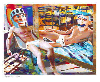 Shop for Gay Male Art Twisted Trojan Print a limited edition print by San Francisco artist Donald Rizzo. Donald Rizzo paints optical illusions in a style call Ambiguous Delusions.