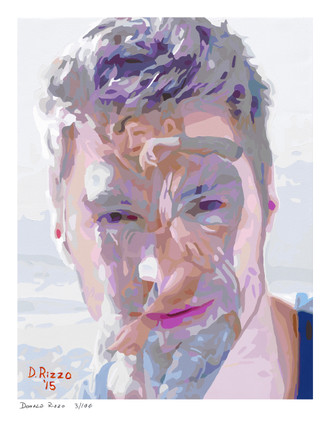 Shop for Gay Male Art We Two are One Print a limited edition print by San Francisco artist Donald Rizzo. Donald Rizzo paints optical illusions in a style call Ambiguous Delusions.