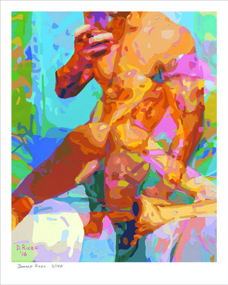 Shop for Gay Male Art Jock Strap BB Slut 4 9+ Top Print a limited edition print by San Francisco artist Donald Rizzo. Donald Rizzo paints optical illusions in a style call Ambiguous Delusions.