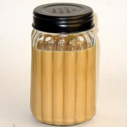 Swan Creek 100% American Soybean 24 Oz. Homespun Jar Candle - Warm Cinnamon Buns