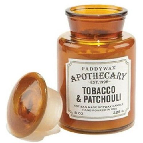 Paddywax Apothecary Jar Candle 8 Oz. - Tobacco & Patchouli