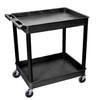 Black Tub Cart 2 Shelf