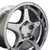 """17"""" Fits Chevrolet - Corvette ZR1 Wheel - Chrome 17x11"""