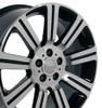 "22"" Fits Land Rover - Stormer Wheel - Black 22x10"