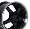 "18"" Fits Chevrolet - Corvette C5 Wheel - Black 18x10.5"