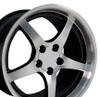 "18"" Fits Camaro Corvette C5 Deep Dish Wheel-Black vents 18x10.5"