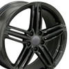 "18"" Fits Audi - RS6 Wheel - Black 18x8"