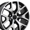 "20"" Fits GMC - Sierra 1500 Wheel - Black Machined Face 20x9"