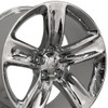 "20"" Fits Jeep - Grand Cherokee SRT Wheel - Chrome 20x10"