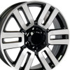 "20"" Fits Toyota - 4Runner Wheel - Black Machined Face 20x7"