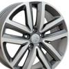 "18"" Fits VW Volkswagen - Jetta Wheel - Gunmetal Mach'd Face 18x7.5"