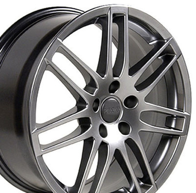 "17"" Fits Audi - RS4 Wheel - Hyper Silver 17x7.5"