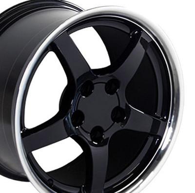 "17"" Fits Chevrolet - Corvette C5 Wheel - Black 17x9.5"