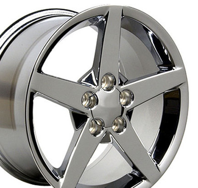 "17"" Fits Chevrolet - Corvette C6 Wheel - Chrome 17x8.5"