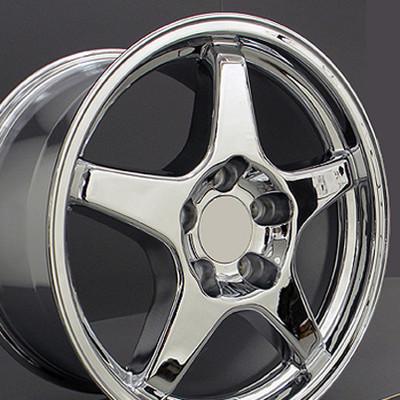 """17"""" Fits Chevrolet - Corvette ZR1 Wheel - Chrome 17x9.5"""