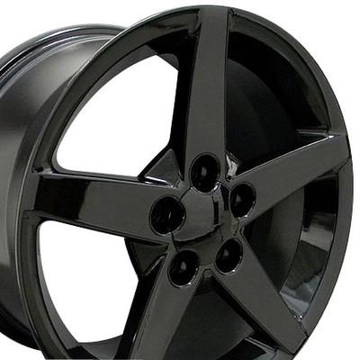 "17"" Fits Chevrolet - Corvette C6 Wheel - Black 17x9.5"