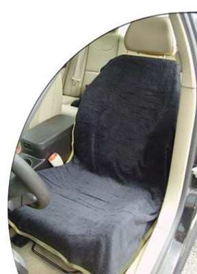 Black Car Seat Cover Towel Blank