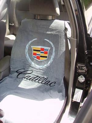 Cadillac Grey Car Seat Cover Towel Armour