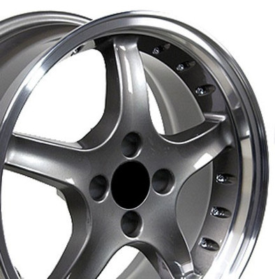 """17"""" Fits Ford - Mustang 4-Lug Cobra R Wheel - Anthracite 17x8"""