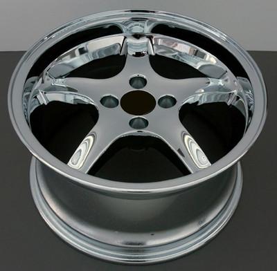 """17"""" Fits Ford - Mustang 4-Lug Cobra R Wheel - Chrome 17x9"""