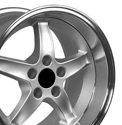 "17"" Fits Ford - Mustang Cobra R Wheel - Silver 17x10.5"