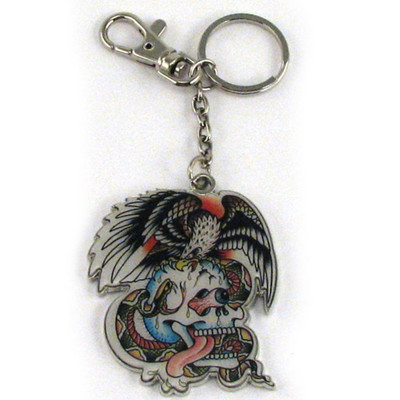 Ed Hardy Battle Chrome Keychain