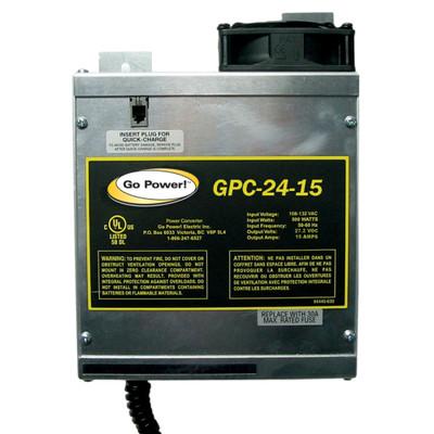 Go Power 15 AMP BATTERY CHARGER 24V, 1 BANK
