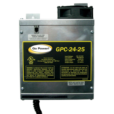 Go Power 25 AMP BATTERY CHARGER 24V, 1 BANK
