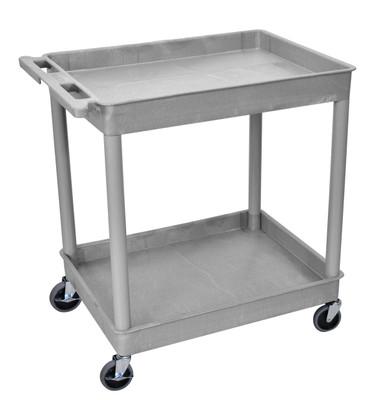 Tub Cart Gray 2 Shelves