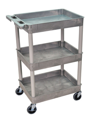 3 Shelves Gray Tub Cart