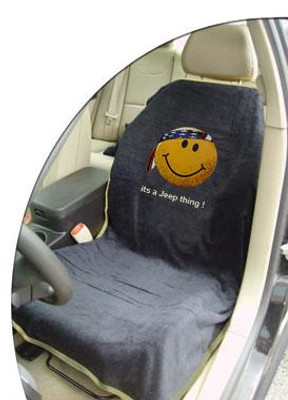 Jeep Black Smiley Face Car Seat Cover Towel