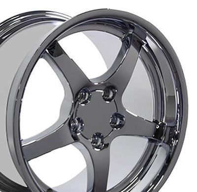 """18"""" Fits Chevrolet - Corvette C5 Wheel - Chrome 18x10.5"""